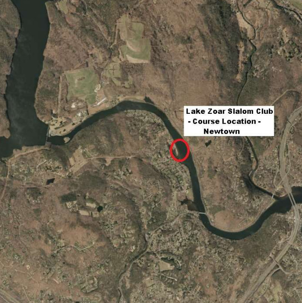 2019 July -- Lake Zoar Slalom Club Proposed Water Skiing Course Location