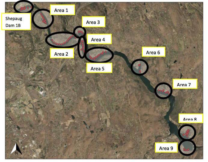 Zoar Lake Treatment Map